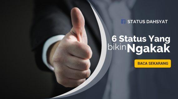 6 Status Dahsyat yang Bikin Ngakak