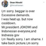 Komikus Jepang Onan Hiroshi yang Sindir Jokowi Minta Maaf